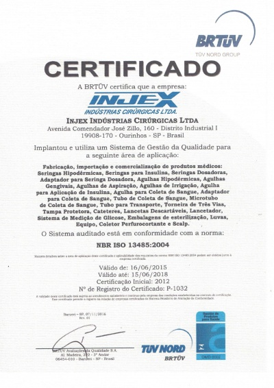 ISO 13485 Certificate