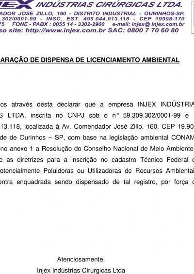 Licencia Ambiental - IBAMA (Declaración)